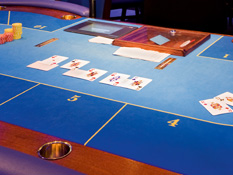 Have a meal or try your luck: the casino is right next door