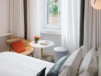 chambres en h tel de luxe rome sofitel rome villa borghese. Black Bedroom Furniture Sets. Home Design Ideas