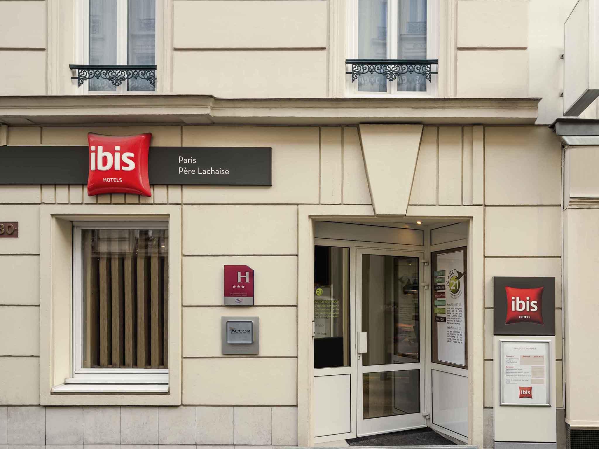 โรงแรม – ไอบิส ปารีส แปร์ ลาแชส