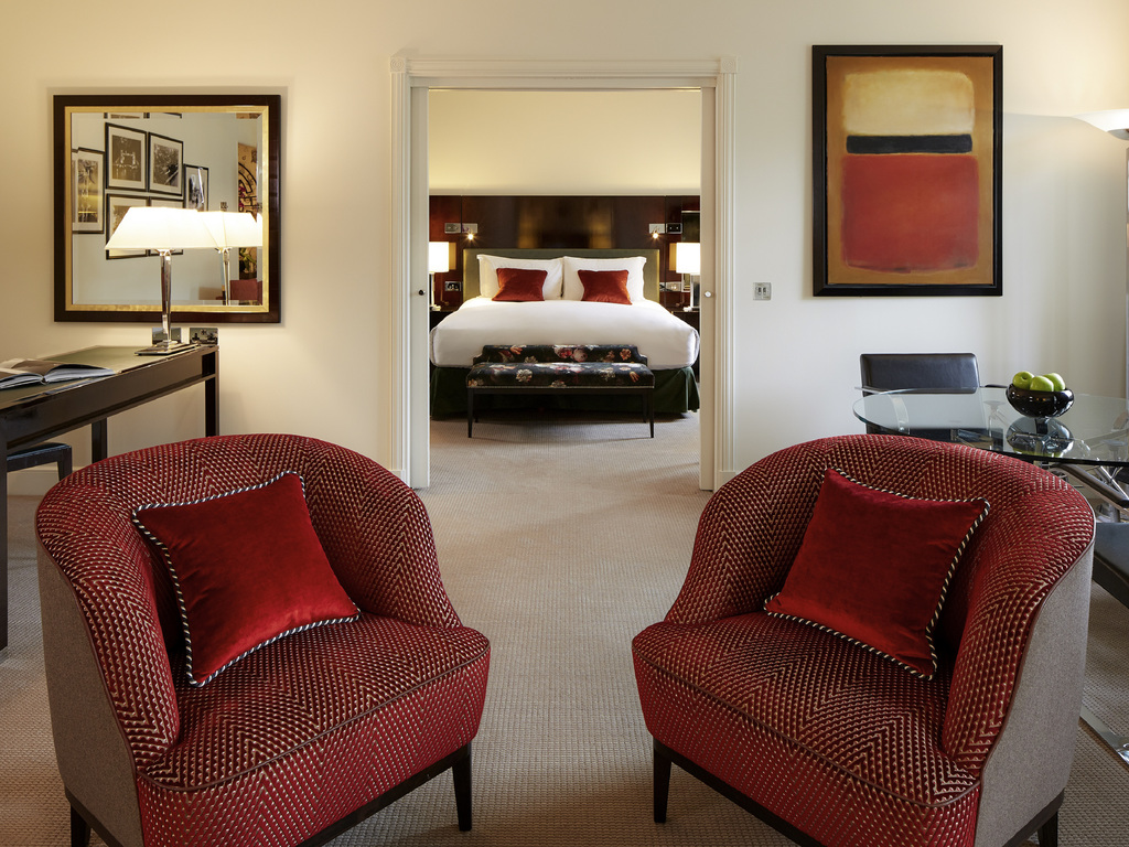 Sofitel London St James Luxurious Hotel In Room To House Wiring Suite 1 King Bed Separate Lounge And Dining Space View Over