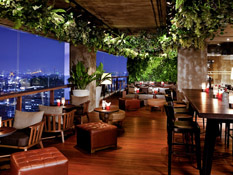 A trendy open terrace providing spectacular views of Bangkok's glittering skyline