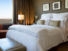 Guest rooms provide stunning panoramic views of the city