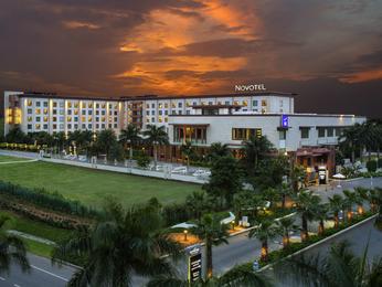 At 27 km Novotel Hyderabad Airport