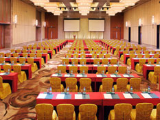Celebrate in style in one of the largest ballrooms in Sanya