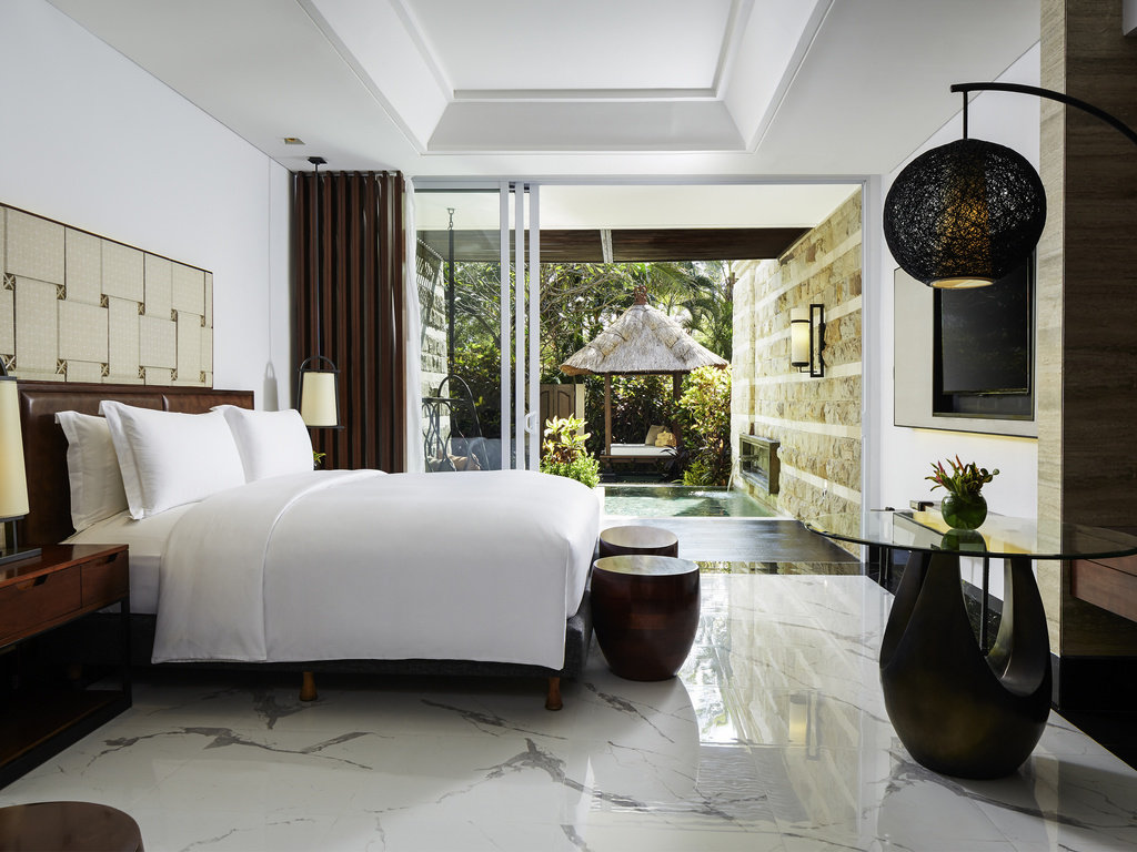 Sofitel Bali Nusa Dua Beach Resort Luxury Accorhotels Voucher Hotel Hostel Nine Dollar Room 2 Single Size Beds Plunge Pool