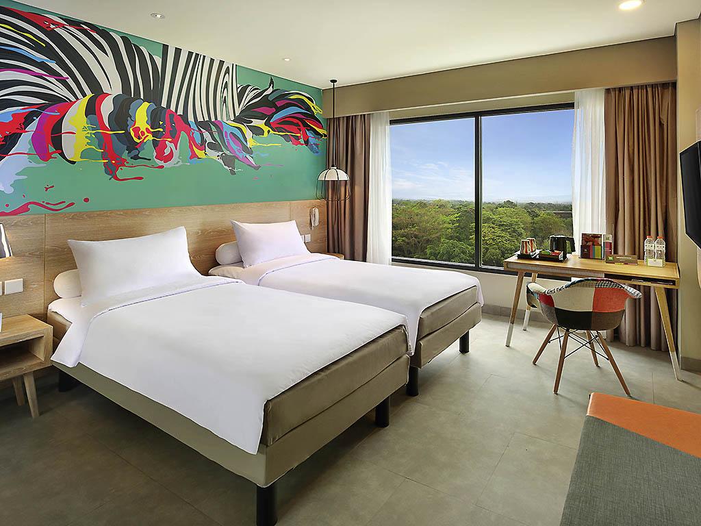Hotel In Bogor Ibis Styles Raya Paket Murmer Acces Point Komplit Deluxe Twin Room Golf View