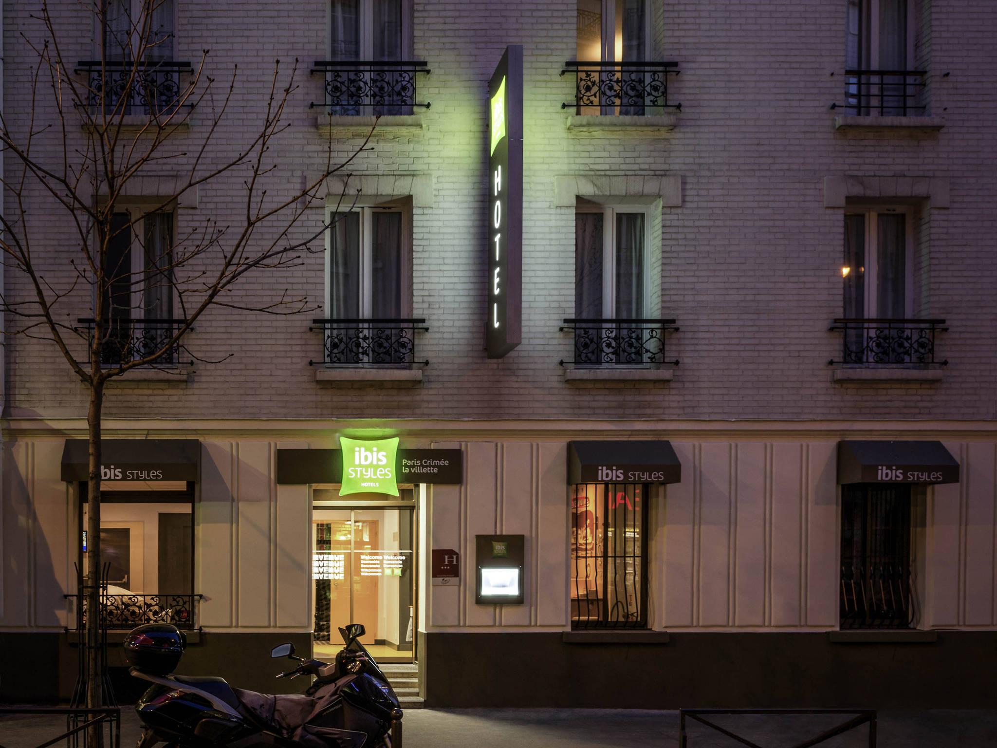 H Tel Paris Ibis Styles Paris Crim E La Villette