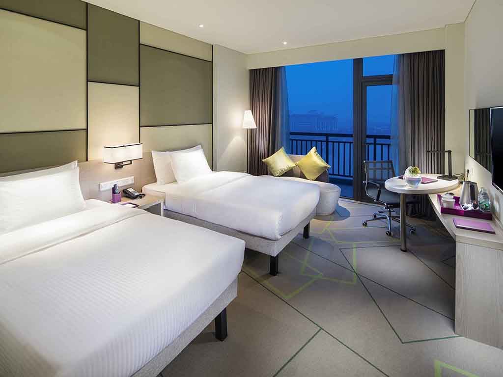 Hotel em hefei mercure hefei wanda for Cama vista superior