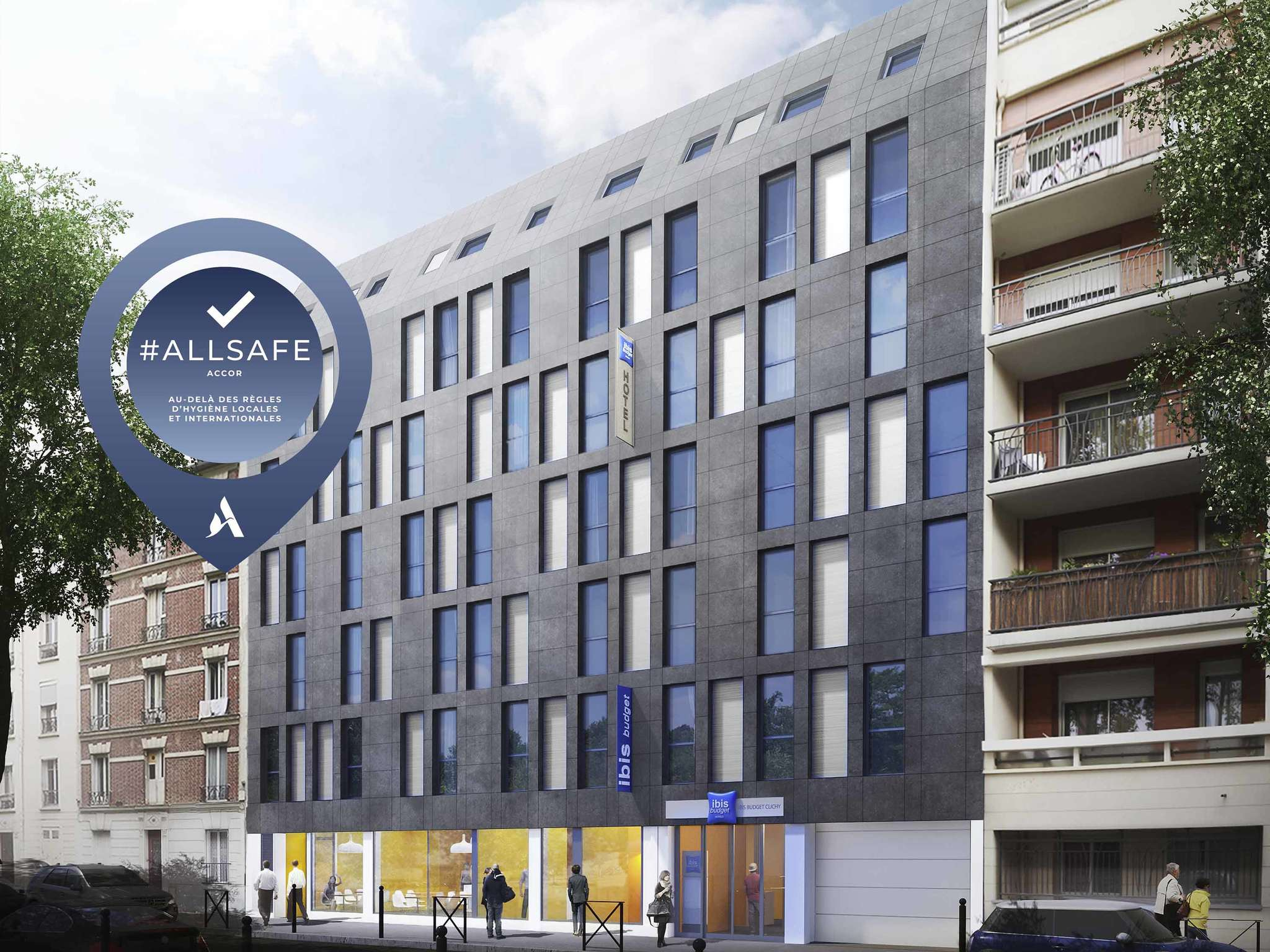 Hotel – ibis budget Paris Clichy Mairie (opening: april 2018)