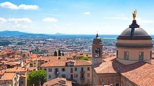 Włochy - Liczba hoteli Bergamo