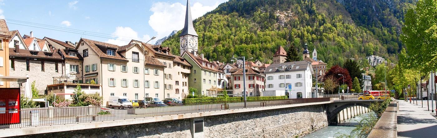 Szwajcaria - Liczba hoteli Chur