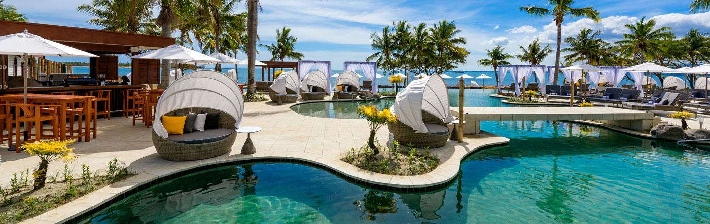 Wyspy Fidżi - Liczba hoteli Wyspa Denarau