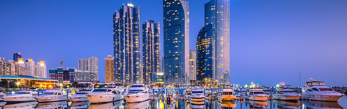 Korea - Liczba hoteli Busan