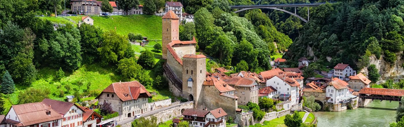 Szwajcaria - Liczba hoteli Fryburg