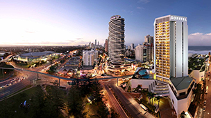 Australia - Liczba hoteli Broadbeach