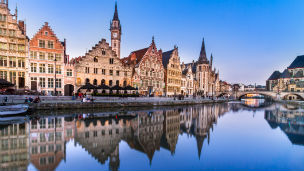 Belgia - Liczba hoteli Gent