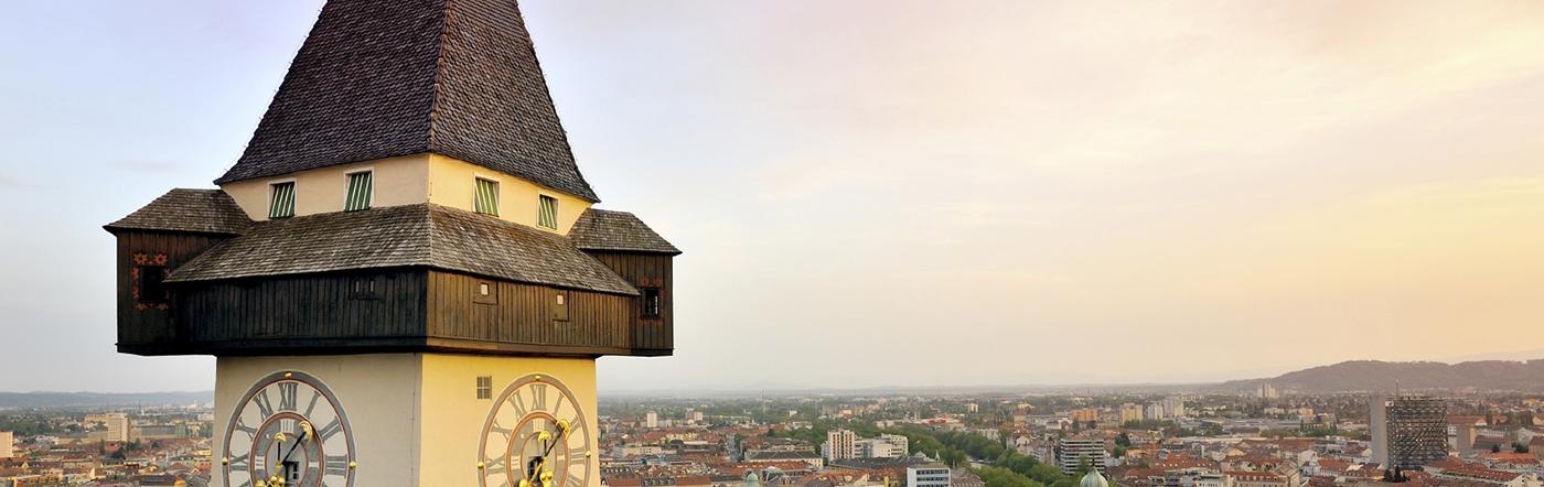 Austria - Liczba hoteli Graz