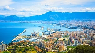 Włochy - Liczba hoteli Palermo