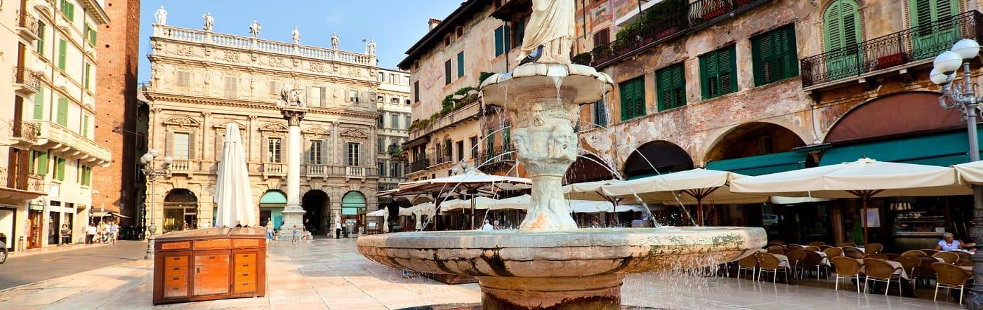 Włochy - Liczba hoteli Werona