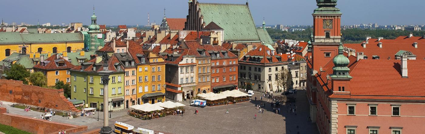 Polska - Liczba hoteli Warszawa