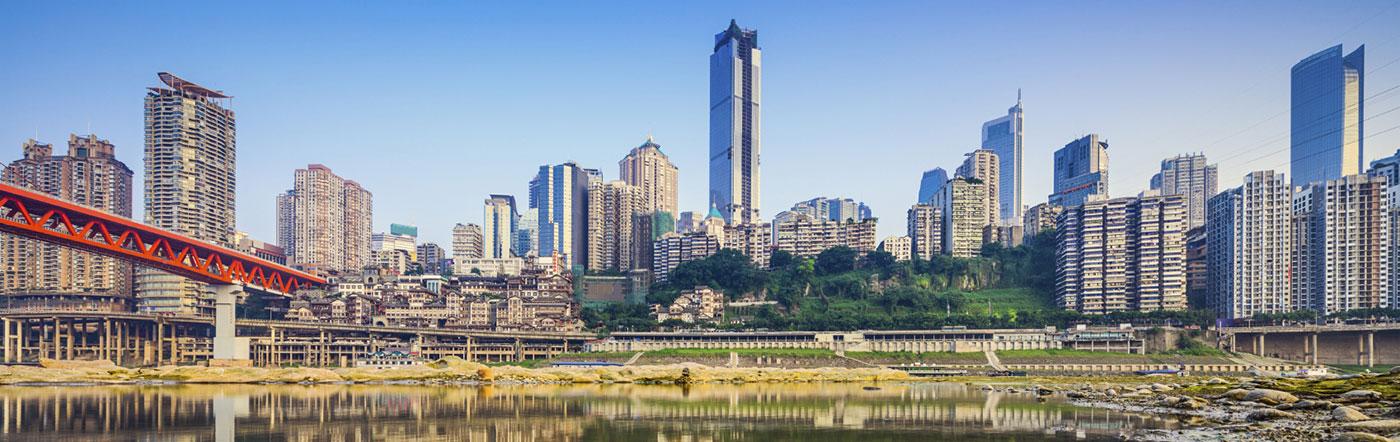 Chiny - Liczba hoteli Chongqing