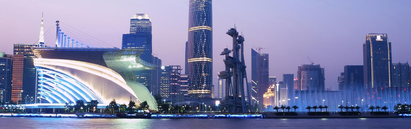 Chiny - Liczba hoteli Guangzhou