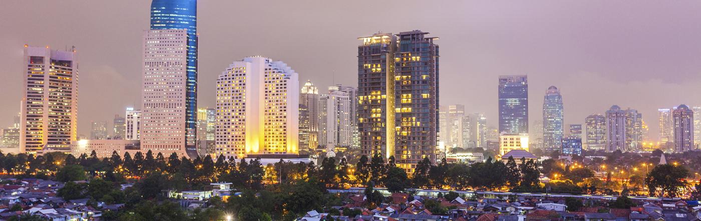 Indonezja - Liczba hoteli Dżakarta