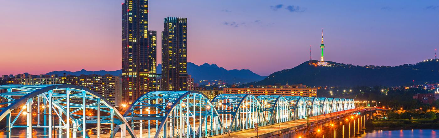 Korea - Liczba hoteli Seul