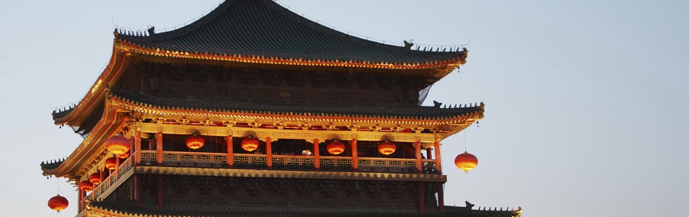 Chiny - Liczba hoteli Xian
