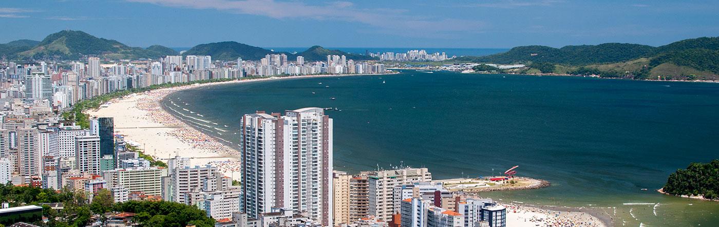 Brazylia - Liczba hoteli Santos