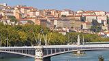 Francja - Liczba hoteli Południowy zachód Lyonu