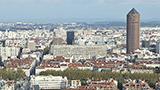Francja - Liczba hoteli Południowy wschód Lyonu