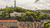 Francja - Liczba hoteli Lyon-Centrum