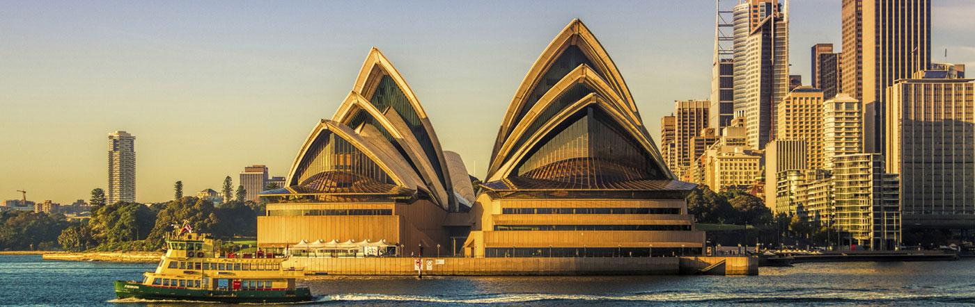 オーストラリア - ロックス地区とシドニーハーバー ホテル