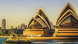 Austrália - Hotéis The Rocks e porto de Sydney