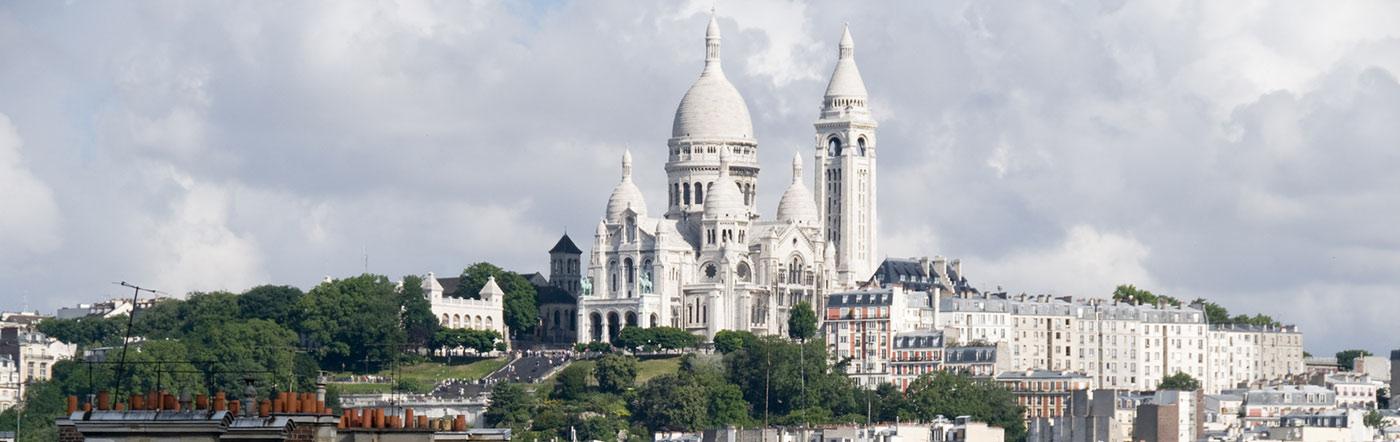ฝรั่งเศส - โรงแรม ปารีสเหนือ (เขตปกครองที่ 17, 18, 19)
