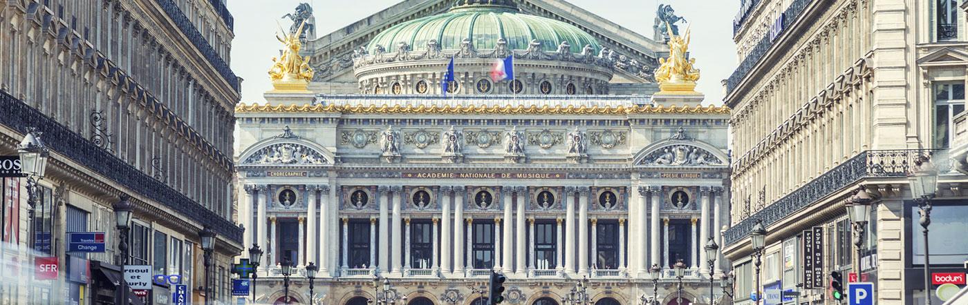 Frankrike - Hotell Centralt-norra Paris (9:e och 10:e)