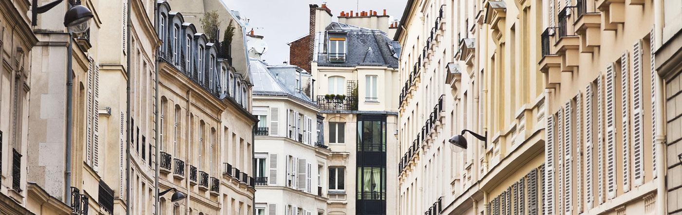 Francja - Liczba hoteli Paryż środkowo-południowy (13e-14e-15e)