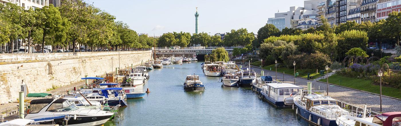 Francja - Liczba hoteli Paryż wschodni (11e-12e-19e-20e)